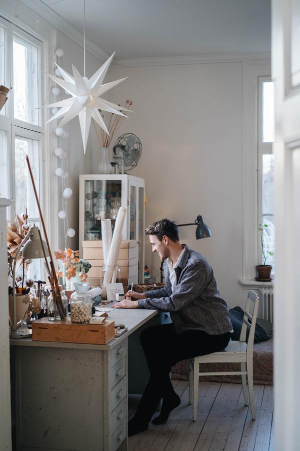 Hannes kreativa arbetsbord nätverksträff nätverka