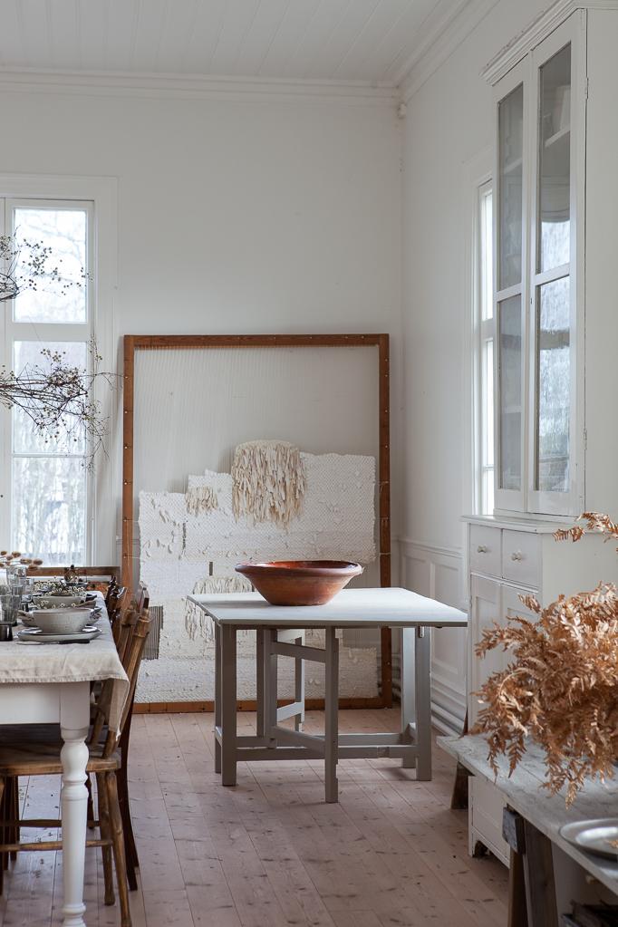 Vinterdukning med Maja i ateljen klematis krans