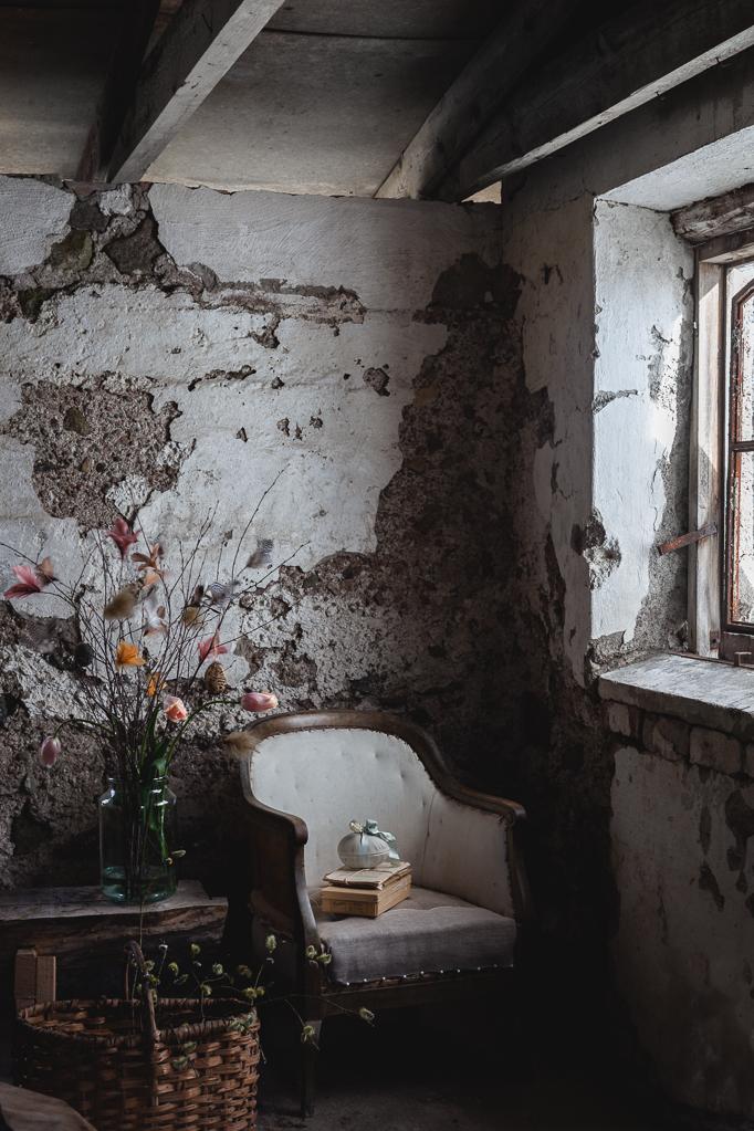 Påskris vacker vägg