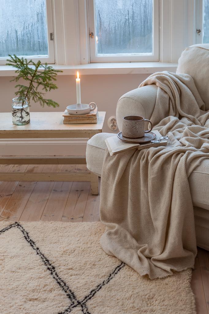 Berbermatta från Marocko i sovrum