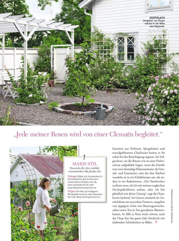 Trädgård från tidningsreportaget